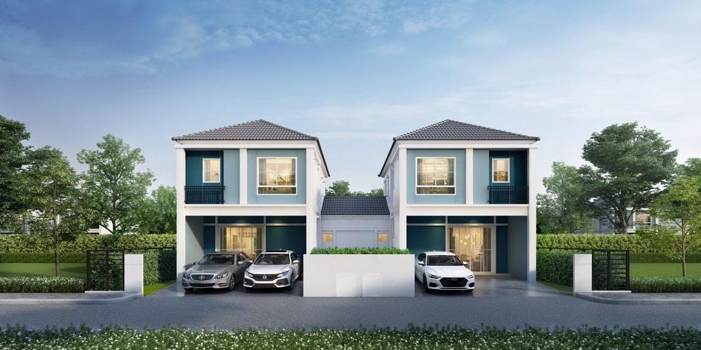free twin house design
